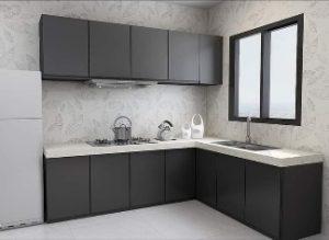 Kitchen Set Berbentuk L-Shapped - Kitchen Set Gunung Putri